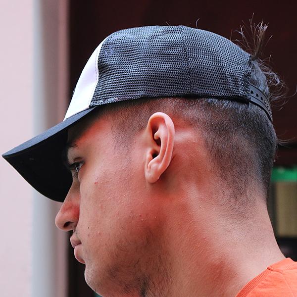 the presidential hustle black and white trucker hat cap2