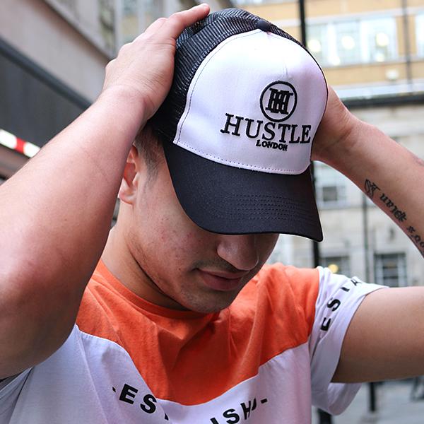 the presidential hustle black and white trucker hat cap3