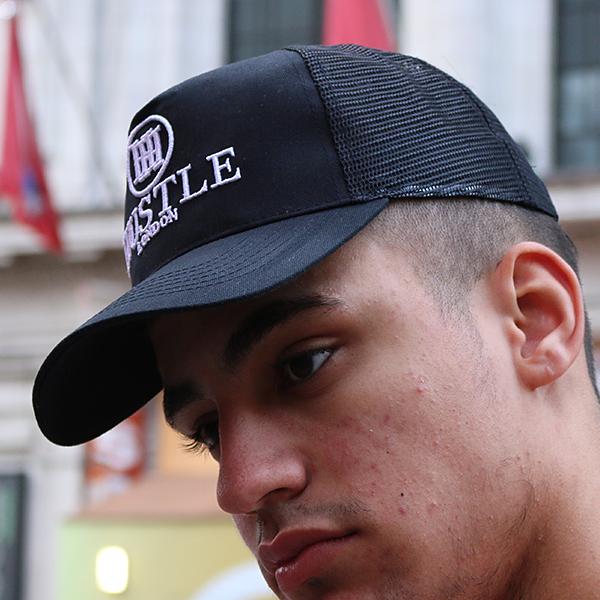 the presidential hustle black trucker hat cap3
