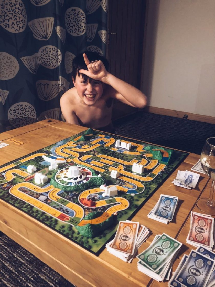 Digital Detox playing board games instead