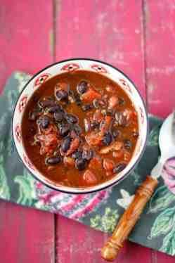 black bean and ham soup