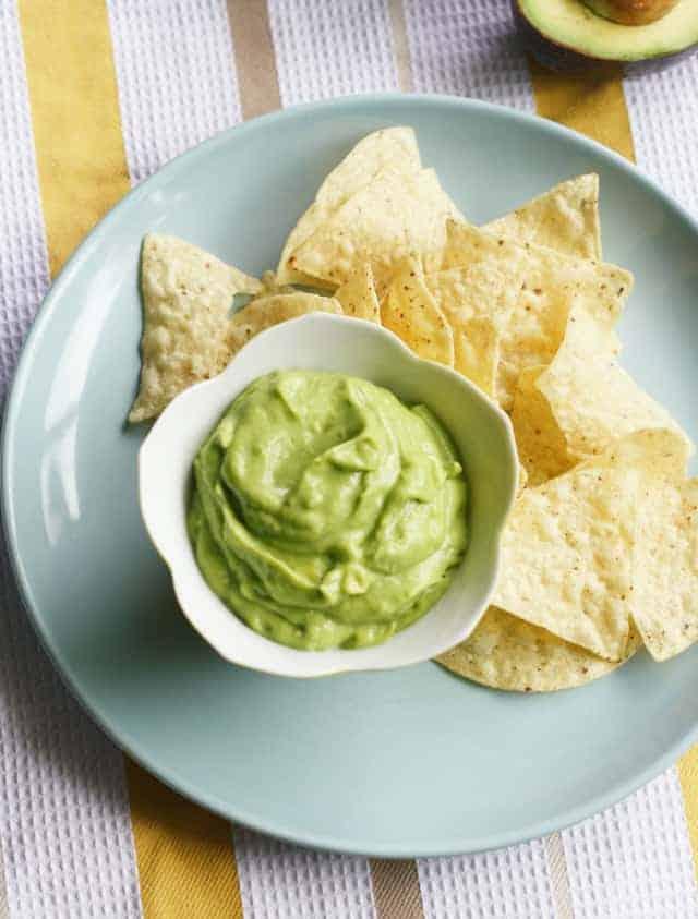 creamy avocado dip, vegan and dairy free