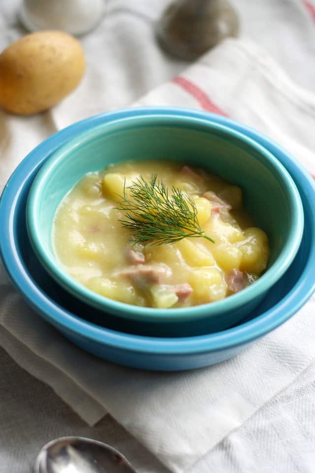 creamy dairy free potato soup
