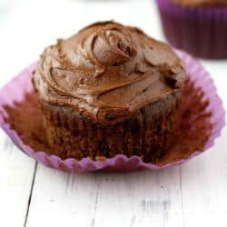 If you're more of a cupcake person, these rich chocolate cupcakes are vegan and gluten free, too!
