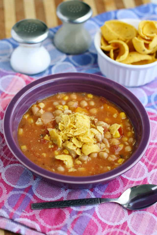 Fiesta chicken chili