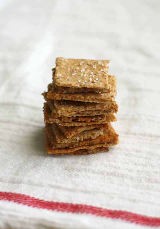 Make your own whole grain crackers! Tastes like wheat thins - vegan recipe.