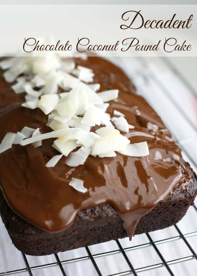 decadent dairy free chocolate coconut pound cake