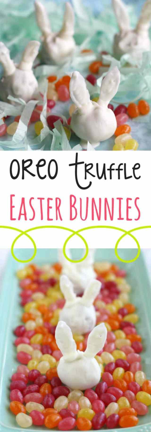 oreo truffle easter bunnies
