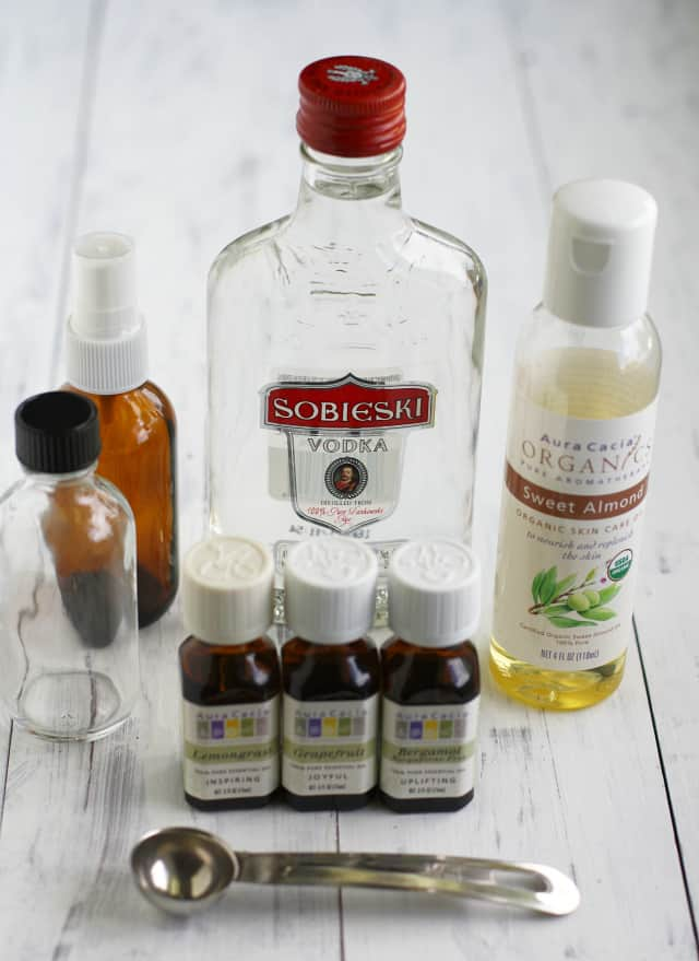 Ingredients for homemade perfume
