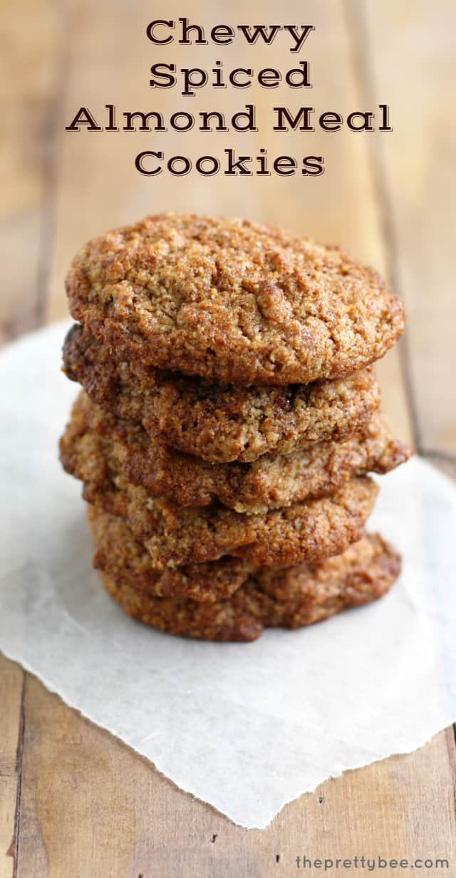 chewy almond meal cookies