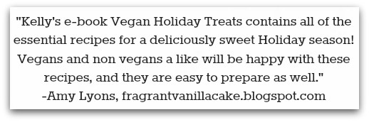 Review of Vegan Holiday Treats.
