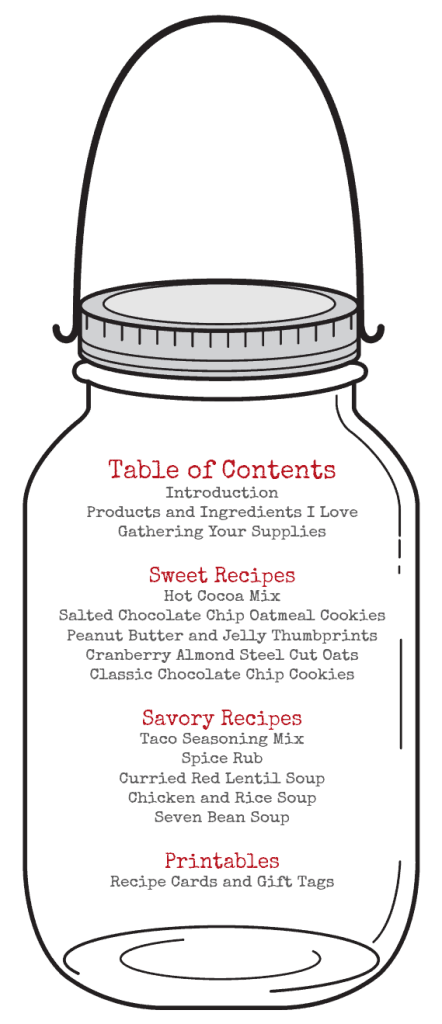 Table of Contents for Gluten Free Gifts in Jars ebook