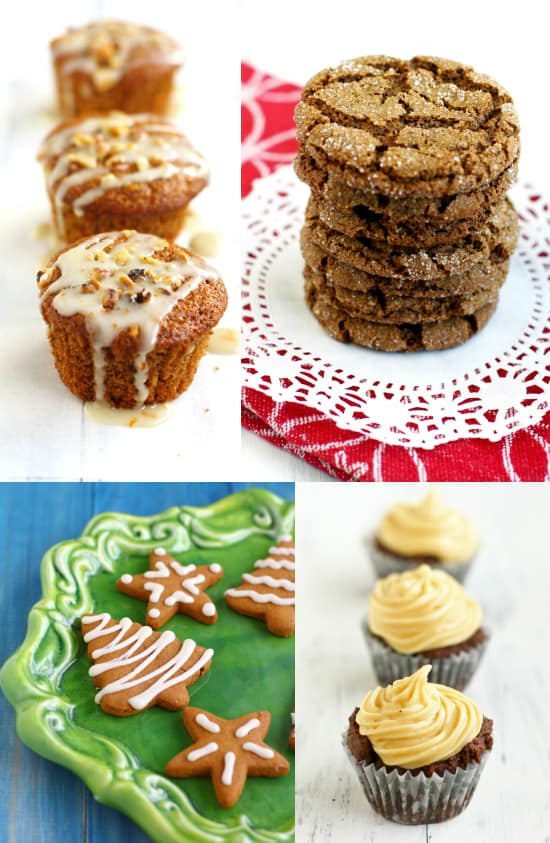 Orange glazed muffins, molasses cookies, iced gingerbread, and chocolate cupcakes topped with spiced buttercream - these are all recipes available in Vegan Holiday Treats!