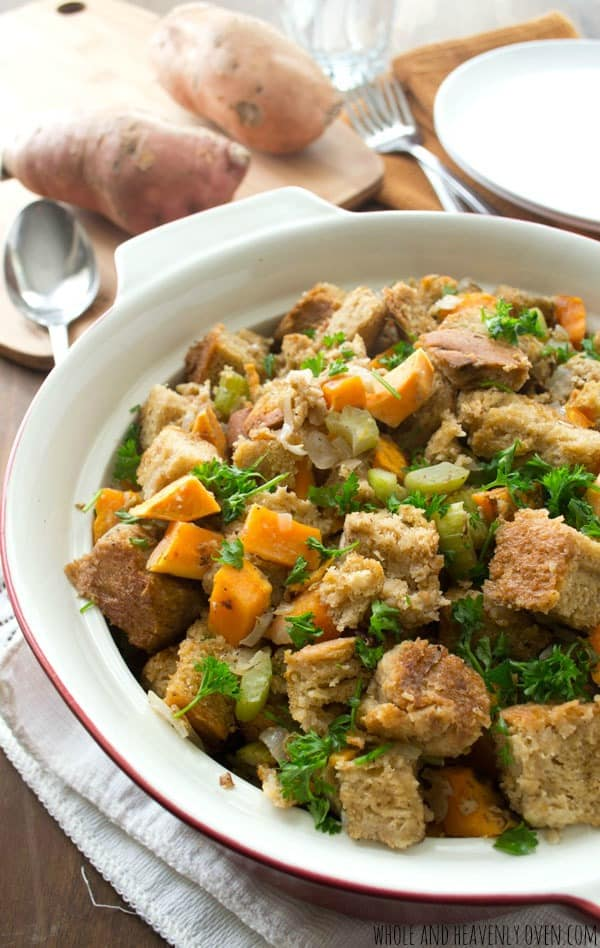 Crockpot Sweet Potato Stuffing from Whole and Heavenly Oven