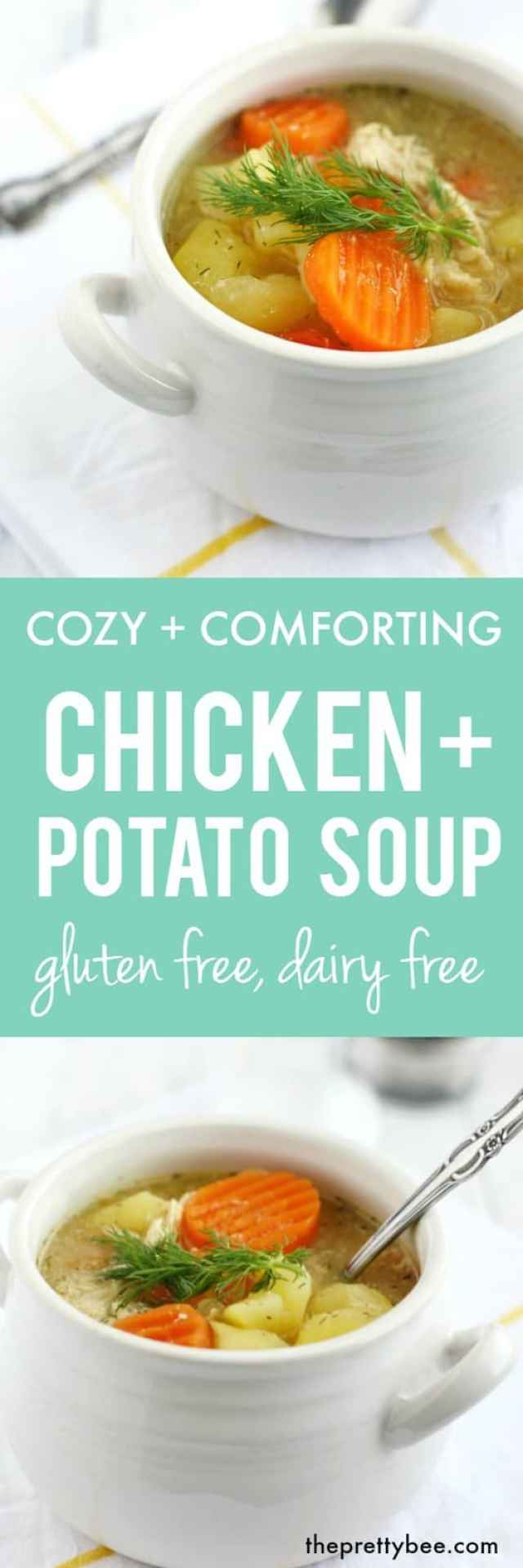 Cozy and delicious chicken potato soup is a hearty meal to serve on a cold day!