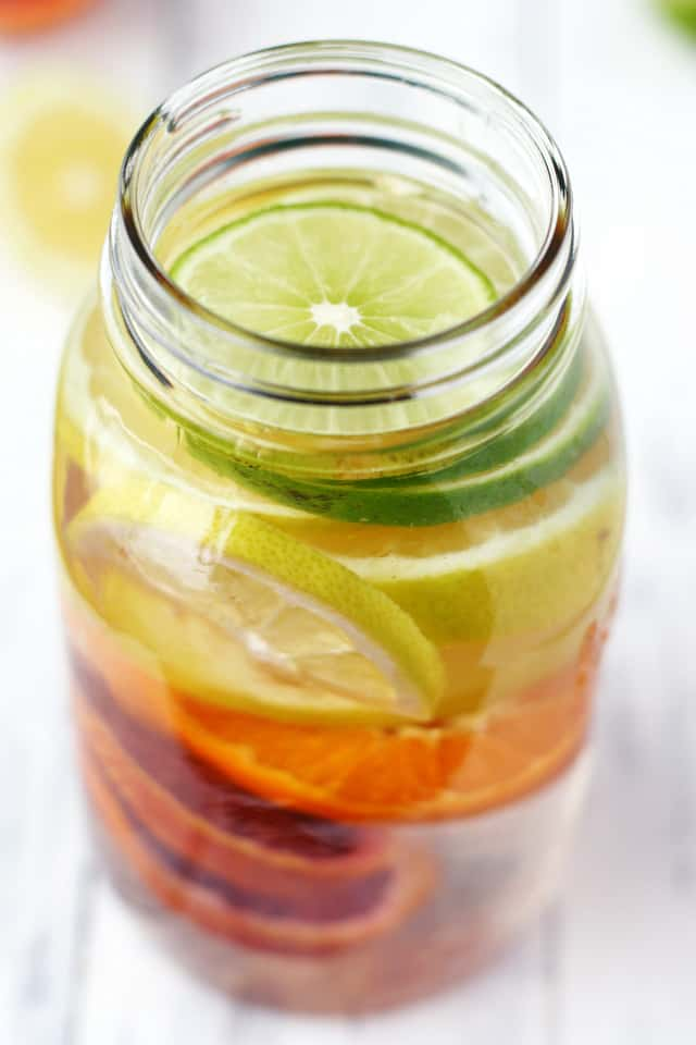 Colorful and refreshing citrus infused water recipe. Healthy and a delicious alternative to sweet drinks!
