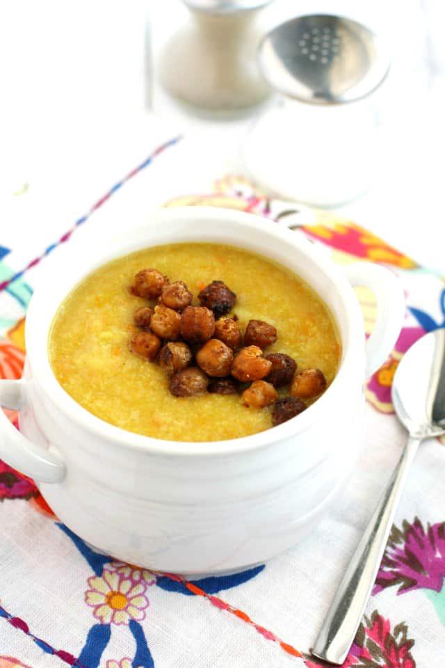 creamy carrot cauliflower soup