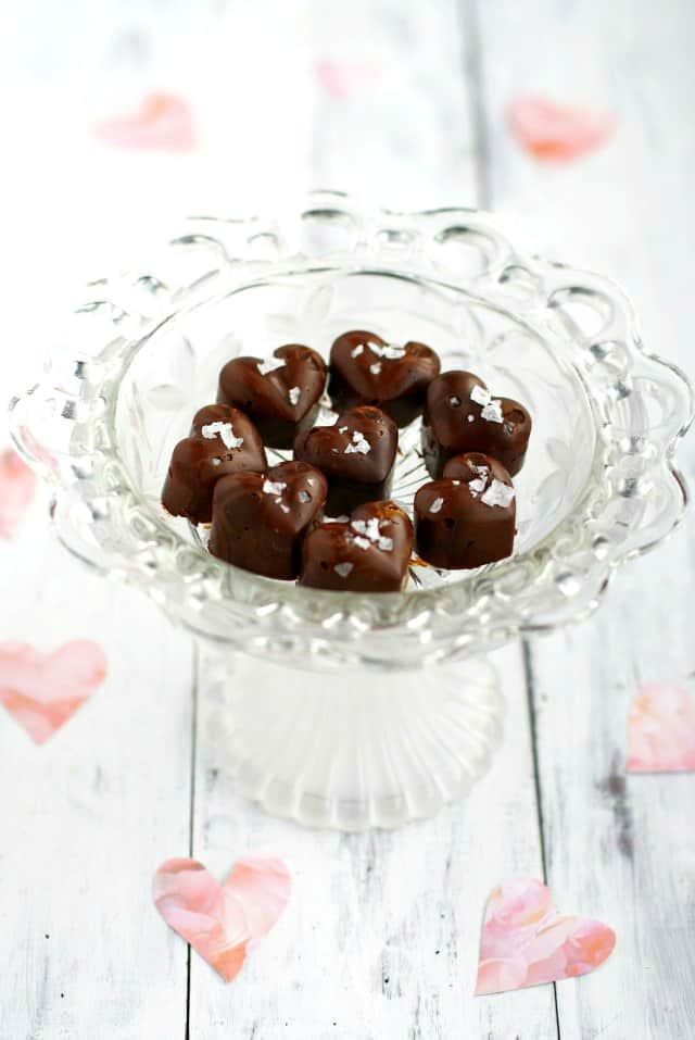 salted chocolate peanut butter hearts