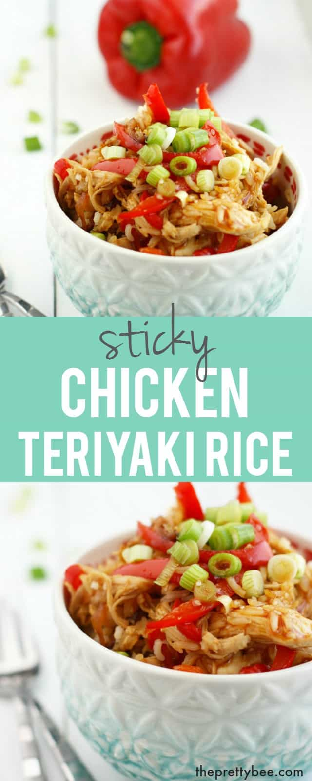 It's the taste of takeout made at home! Sticky chicken teriyaki rice is delicious and easy to make!