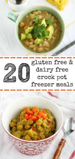 20 gluten free and dairy free crockpot freezer meals - there's something for everyone in this recipe roundup! #freezermeals