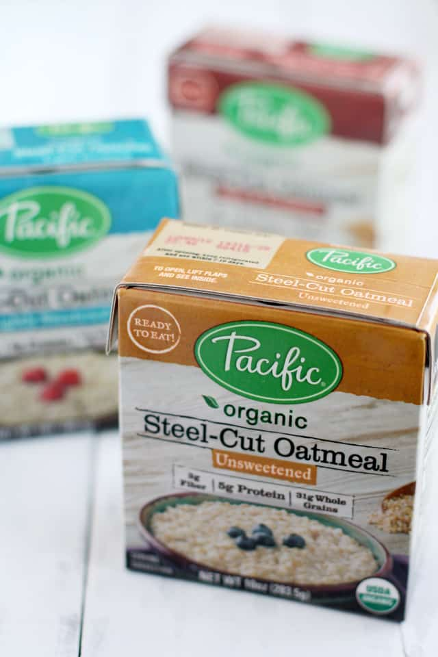 Pacific Foods organic steel cut oatmeal.