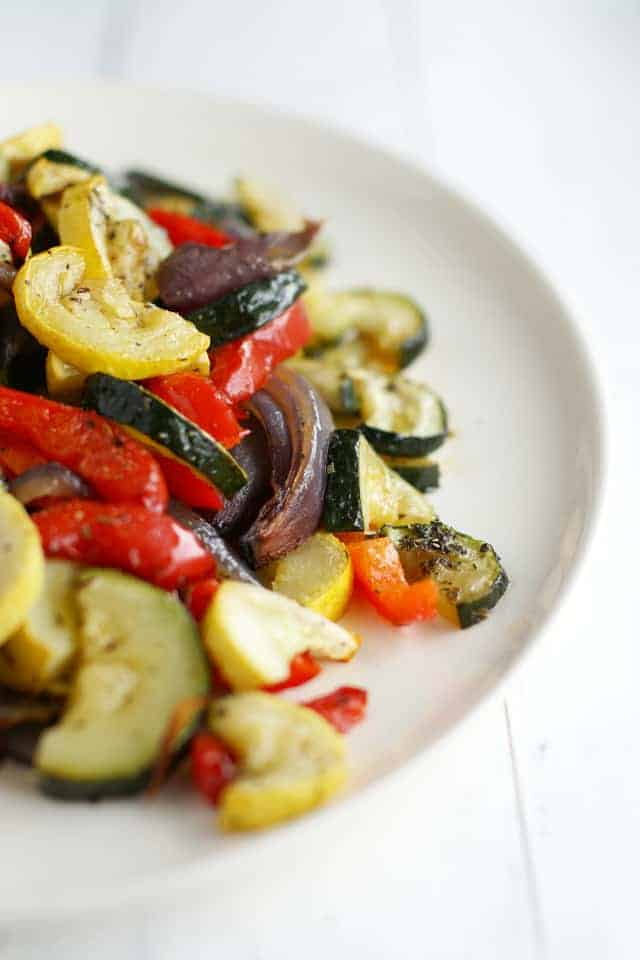 Roasted summer vegetables the pretty bee for A perfect 10 nail salon rapid city