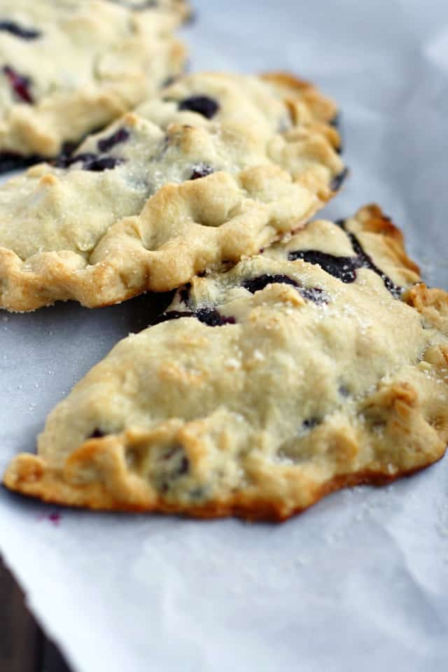 A simple and tasty recipe for blueberry hand pies. This delicious treat is perfect for summer berries! Vegan recipe.