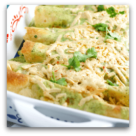 Our family's favorite chicken enchiladas - find the recipe in Allergy Free & Delicious!