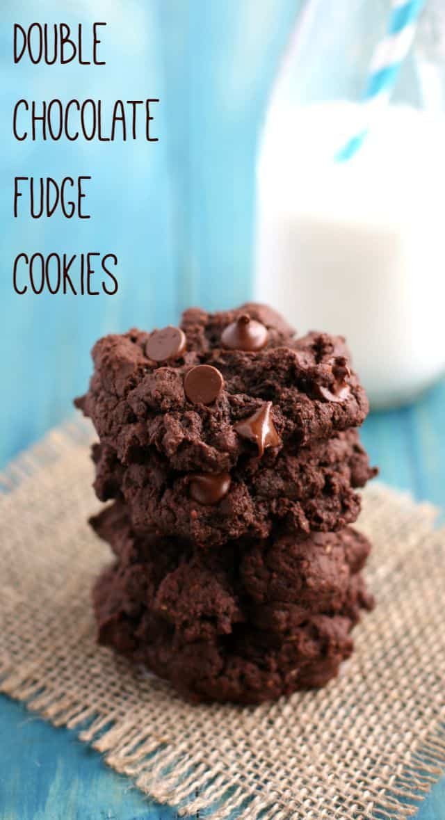 Thick and rich double chocolate fudge cookie recipe