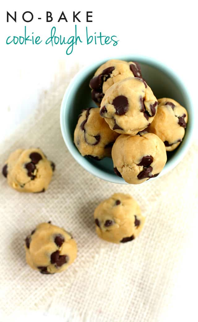egg free chocolate chip cookie dough bites