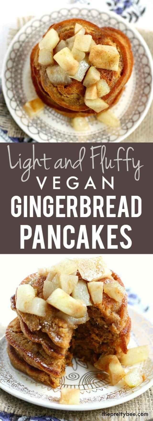 recipe for vegan gingerbread pancakes