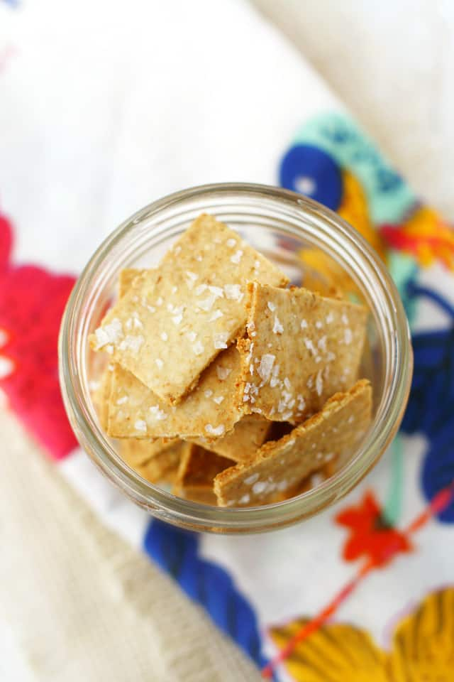 Easy and delicious gluten free cracker recipe. This recipe is so tasty, and much cheaper than store bought crackers!
