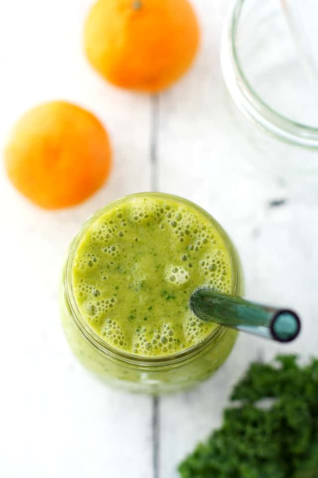 Simple and delicious green citrus smoothie.
