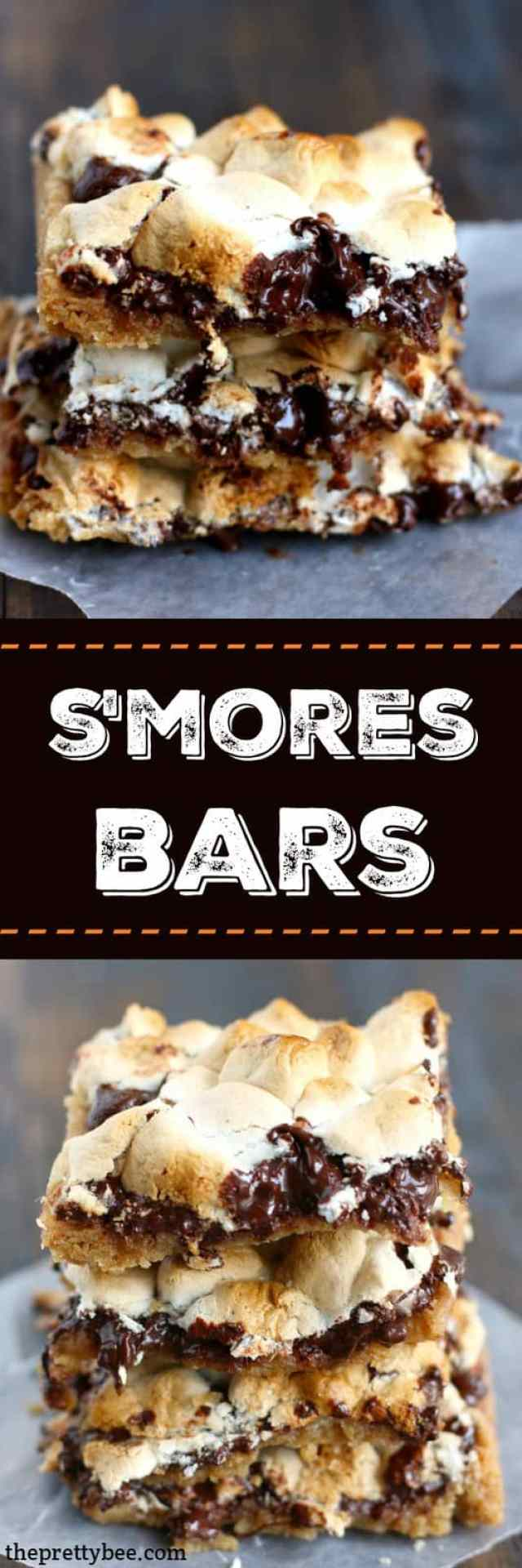 Melty dark chocolate, toasted marshmallows, a graham cracker crust...these s'mores bars have it all!