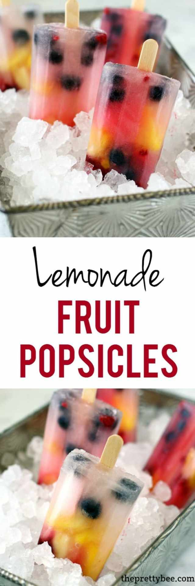 Lemonade fruit popsicles are a perfectly refreshing summer treat!