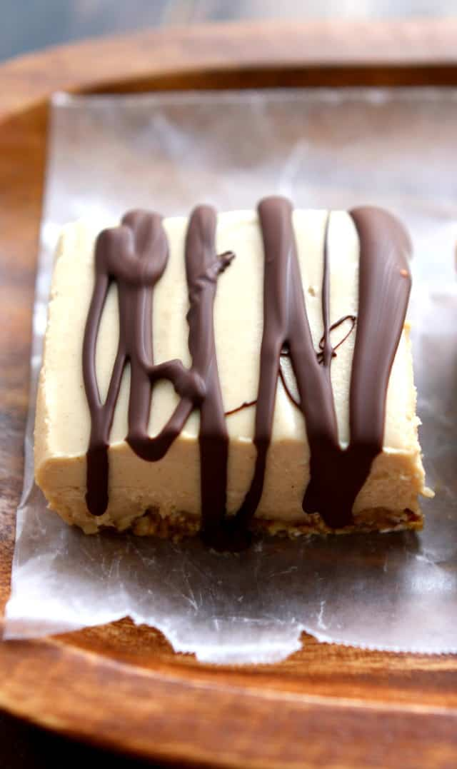 Dairy free peanut butter cream bars are a decadent no-bake treat! An easy, delicious, and healthier dessert recipe.