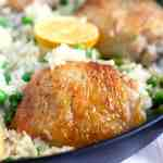 Easy Skillet Chicken and Rice.