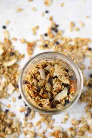stovetop toasted coconut granola is a tasty way to start the day!