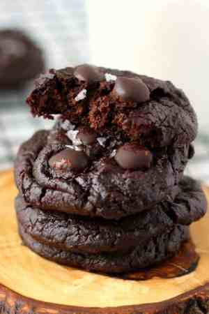 Grain free fudgy chocolate cookies with a secret ingredient!