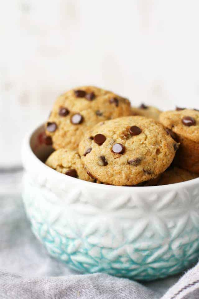 Gluten free chocolate chip cookie mini muffins