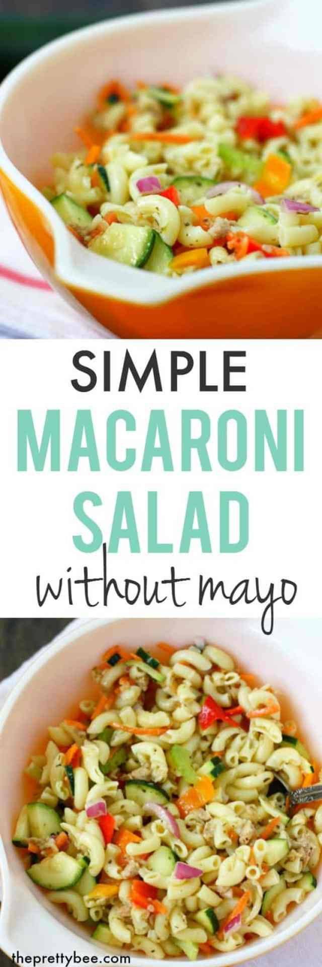 Delicious and easy macaroni salad without mayonnaise