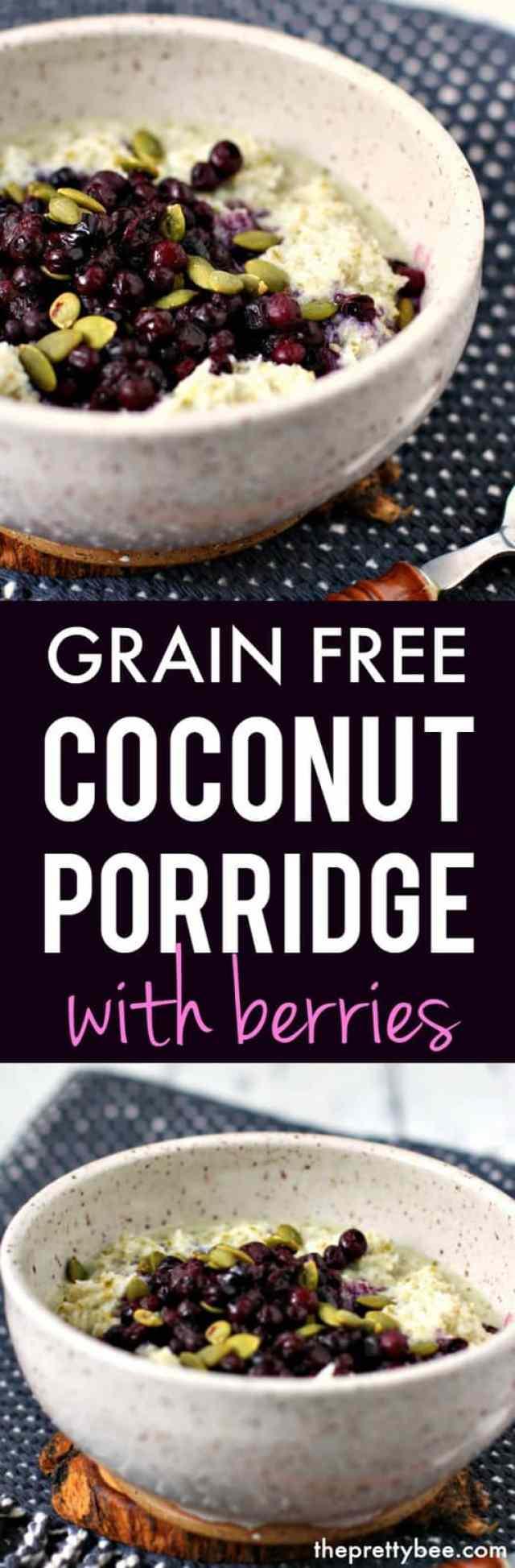 dairy free coconut porridge