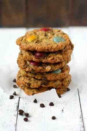 chewy gluten free monster cookies