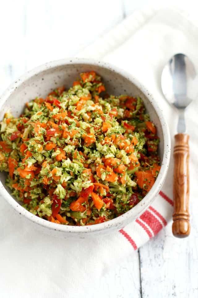 easy chopped veggie salad