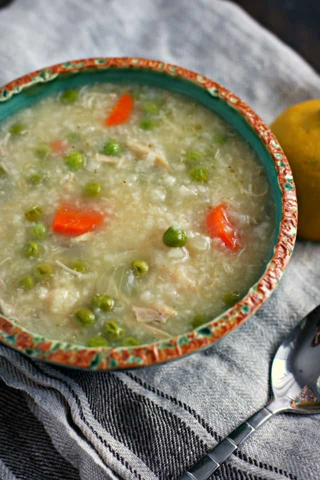 dairy free chicken lemon rice soup