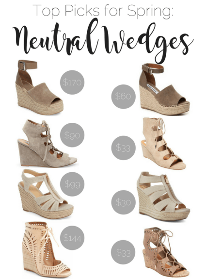 Top Picks for Spring: Neutral Wedges