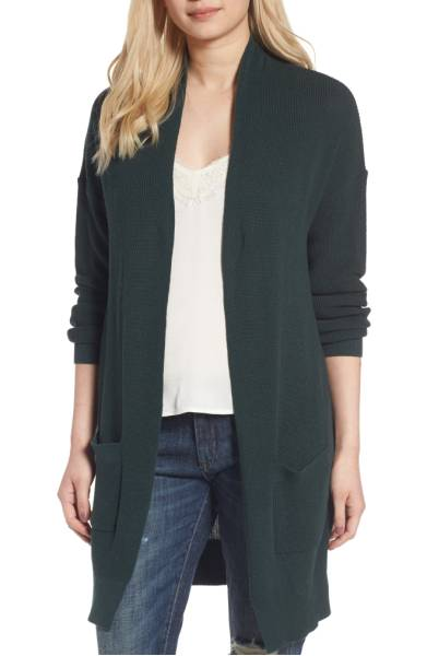 BP lightweight rib stitch cardigan