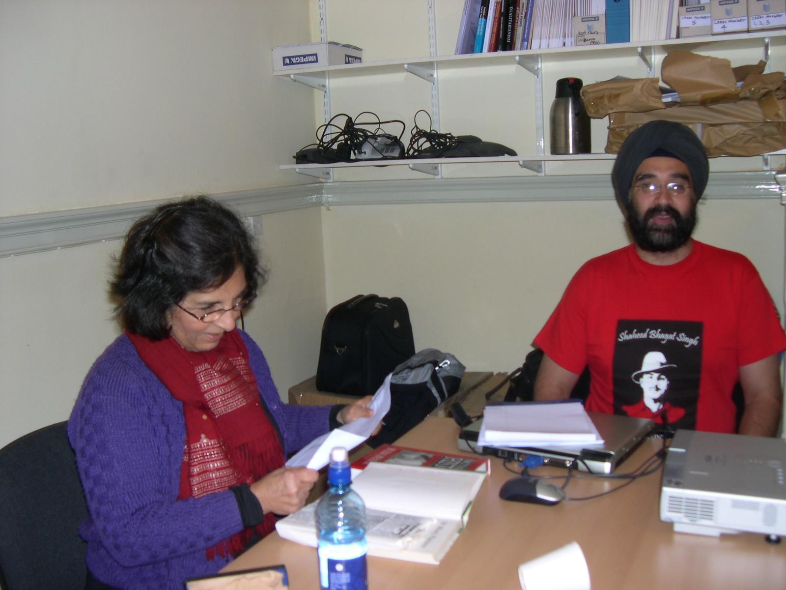 Pratima Mitchell and Virinder Kalra