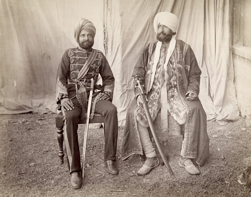 Bakshi Mulray (Governor of Gilgit) & Mehal Singh (Commanding Radur Regiment) in the Vale of Kashmir