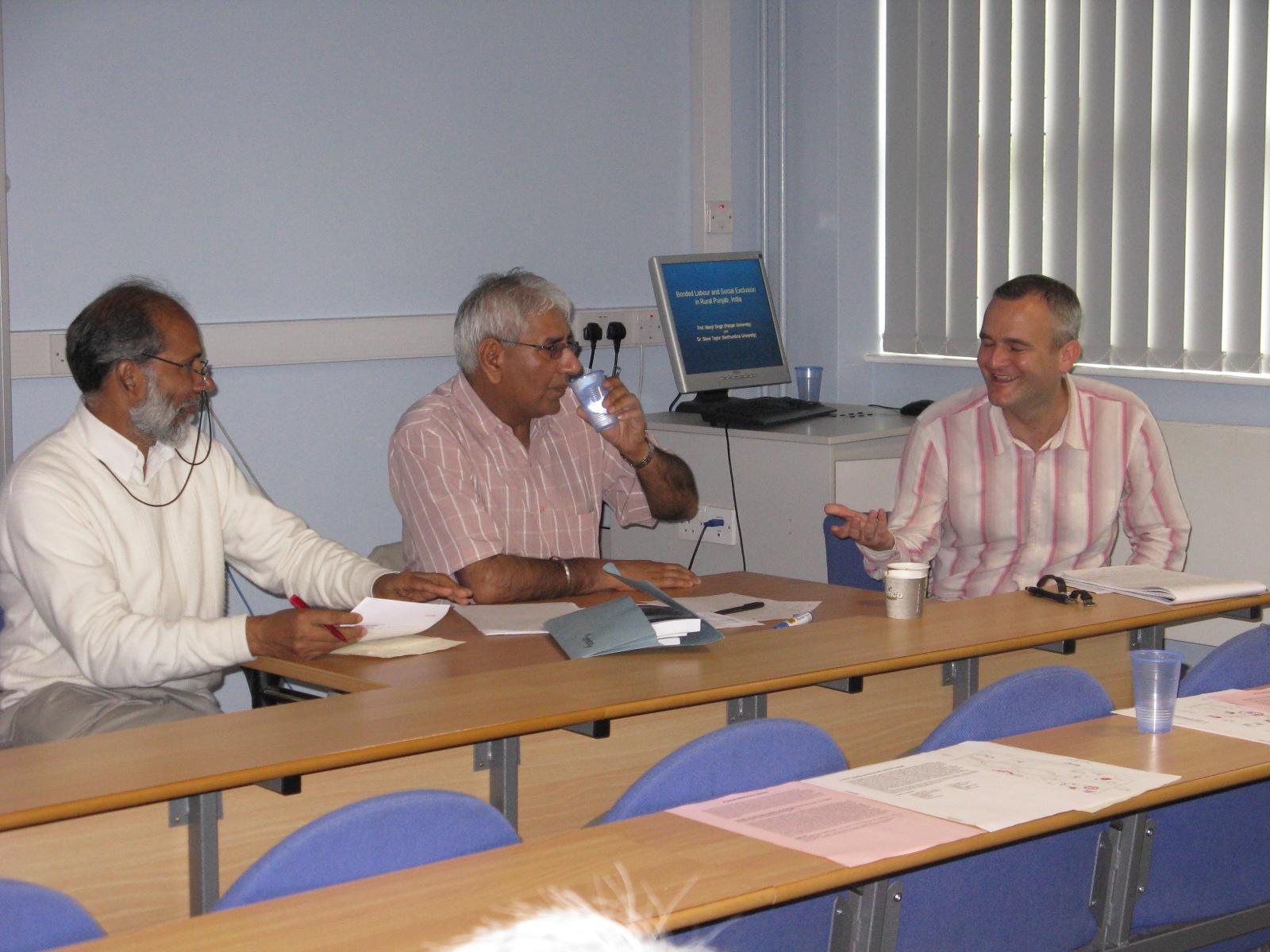 Manjit Singh, Shinder Thandi and Steve Taylor